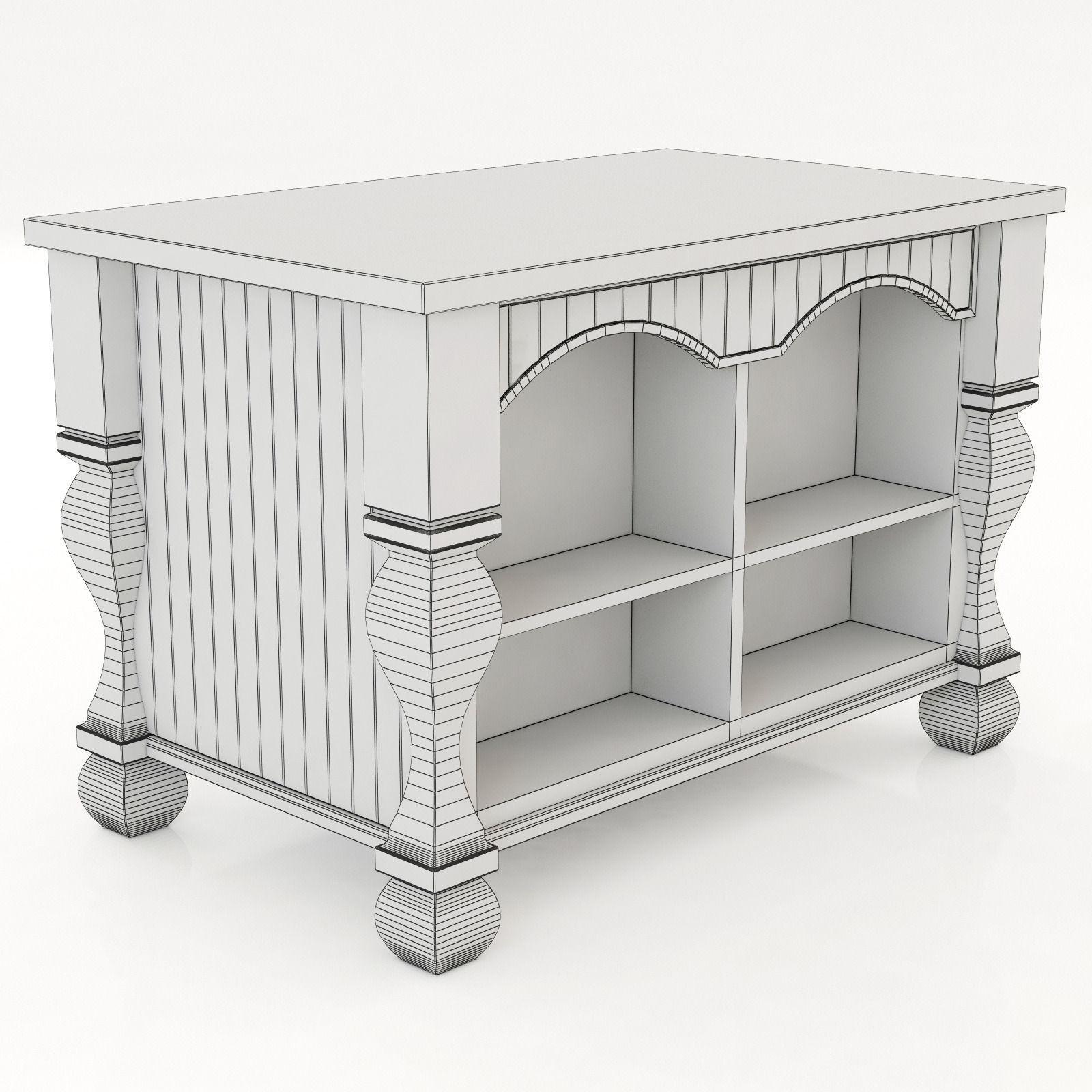 Kitchen island lyn design -  Lyn Design By Hardware Resources Tuscan Kitchen Island 3d Model Max Obj 3ds Fbx Mtl 7