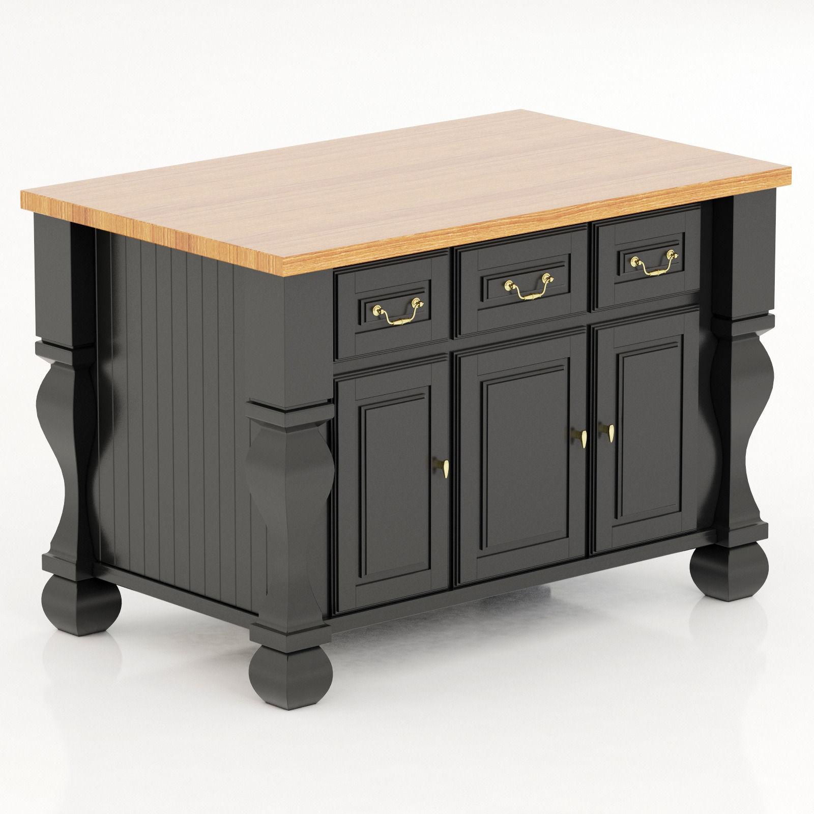 Kitchen island lyn design - Lyn Design By Hardware Resources Tuscan Kitchen Island 3d