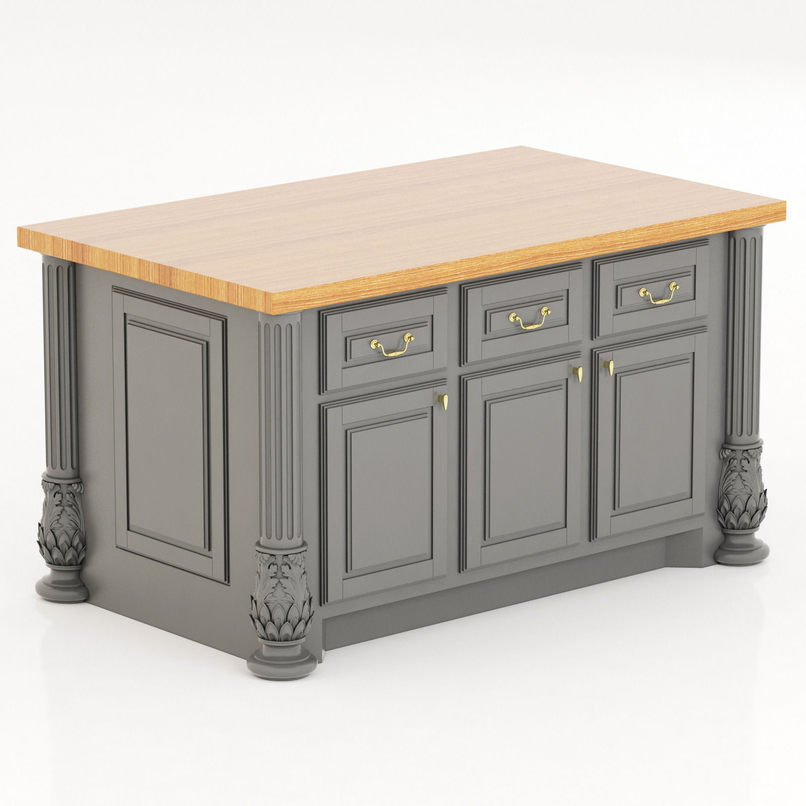 Lyn Design By Hardware Resources Milanese Kitchen Island Model