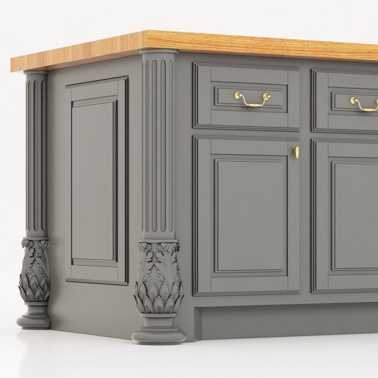 Kitchen island lyn design -  Lyn Design By Hardware Resources Milanese Kitchen Island 3d Model Max Obj 3ds Fbx Mtl 5