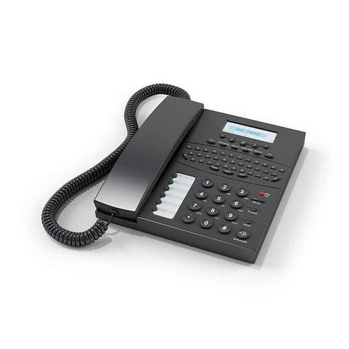 black office phone 3d model obj 1