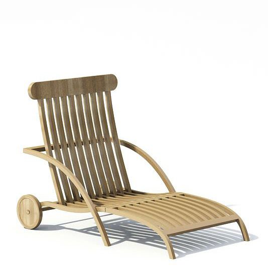 Wooden Garden Lounge Chair 3D Model CGTrader