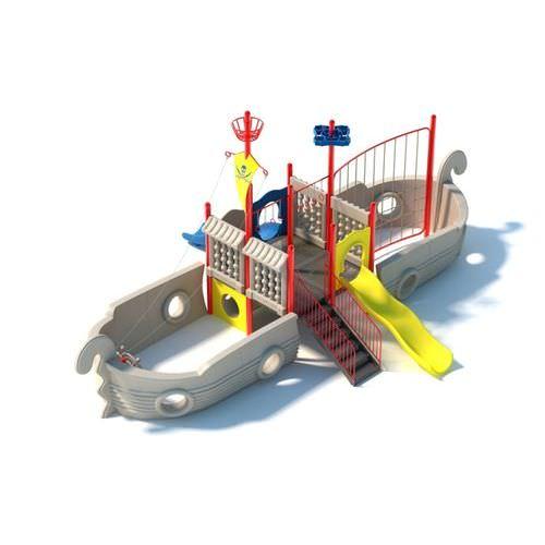 Children s Outdoor Boat And Slide Set3D model