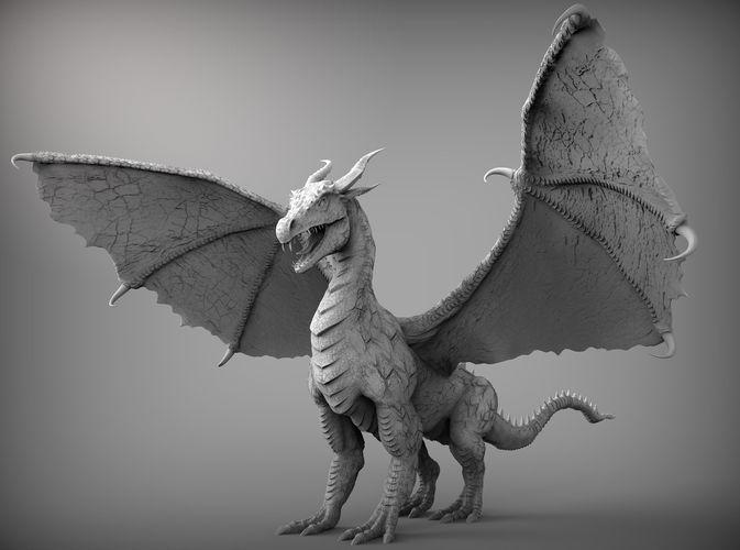 zbrush dragon 3d model obj mtl ztl 1