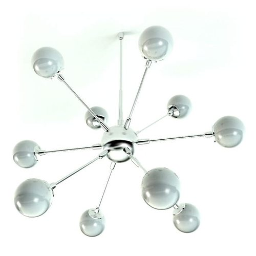 white pearl shaped light fixtures 3d model obj 1