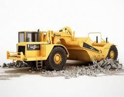 3D model truck Yellow Construction Truck