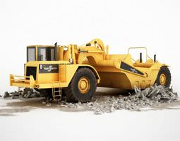 Yellow Construction Truck 3D Model