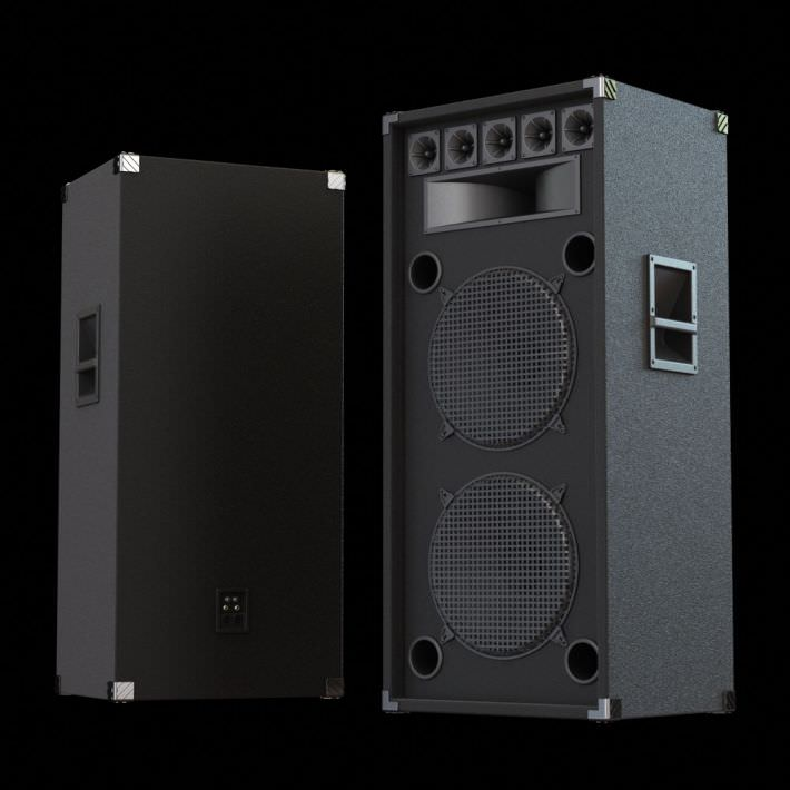 3d Model Big Black Speakers Cgtrader