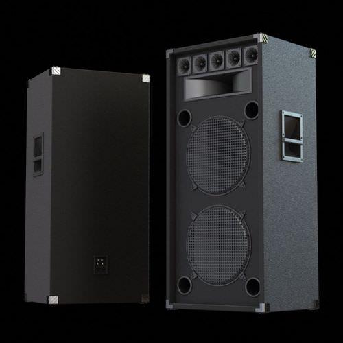big black speakers 3d model. Black Bedroom Furniture Sets. Home Design Ideas