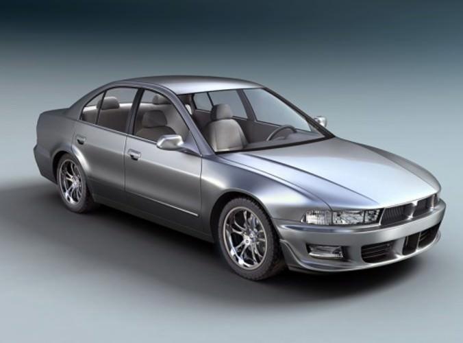 Mitsubishi Galant Sedan Car free 3D Model .max - CGTrader.com
