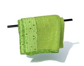 3D model Green Bath Towel