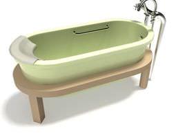 3D Bathroom Bathtub Fixture
