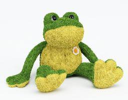 Plush Stuffed Frog 3D model
