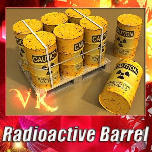 Radioactive Metal Drums and Pallet3D model
