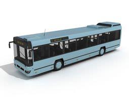 blue city bus 3d model