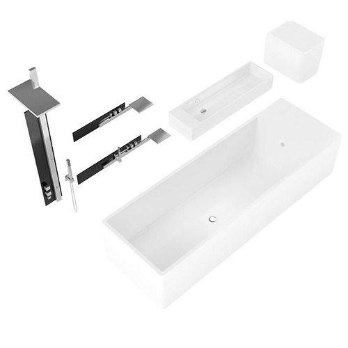 Brilliant Bathroom Fixtures Collection 3D Model OBJ C4D  CGTradercom