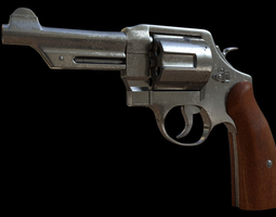 3D asset game-ready Revolver