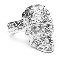 3d printable model ring skull