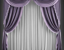 low-poly Curtain 3D model 163