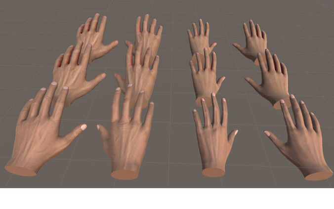 hands for vr basic - unity3d 3d model low-poly animated unitypackage prefab 1
