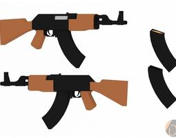 Low Poly Gun Pack 3D Model