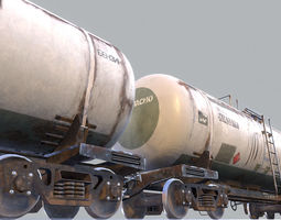 railway oil tank car vr2 3d model low-poly max obj fbx hrc xsi