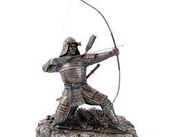 Bronze Samurai Statue 3D model