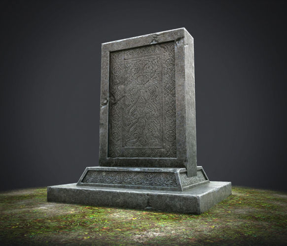 stone tablet 3d model low-poly ma mb tga 1