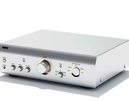 Silver Electronic Sound Amplifier 3D model