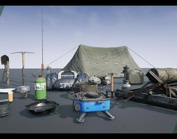 survival props 3d model realtime