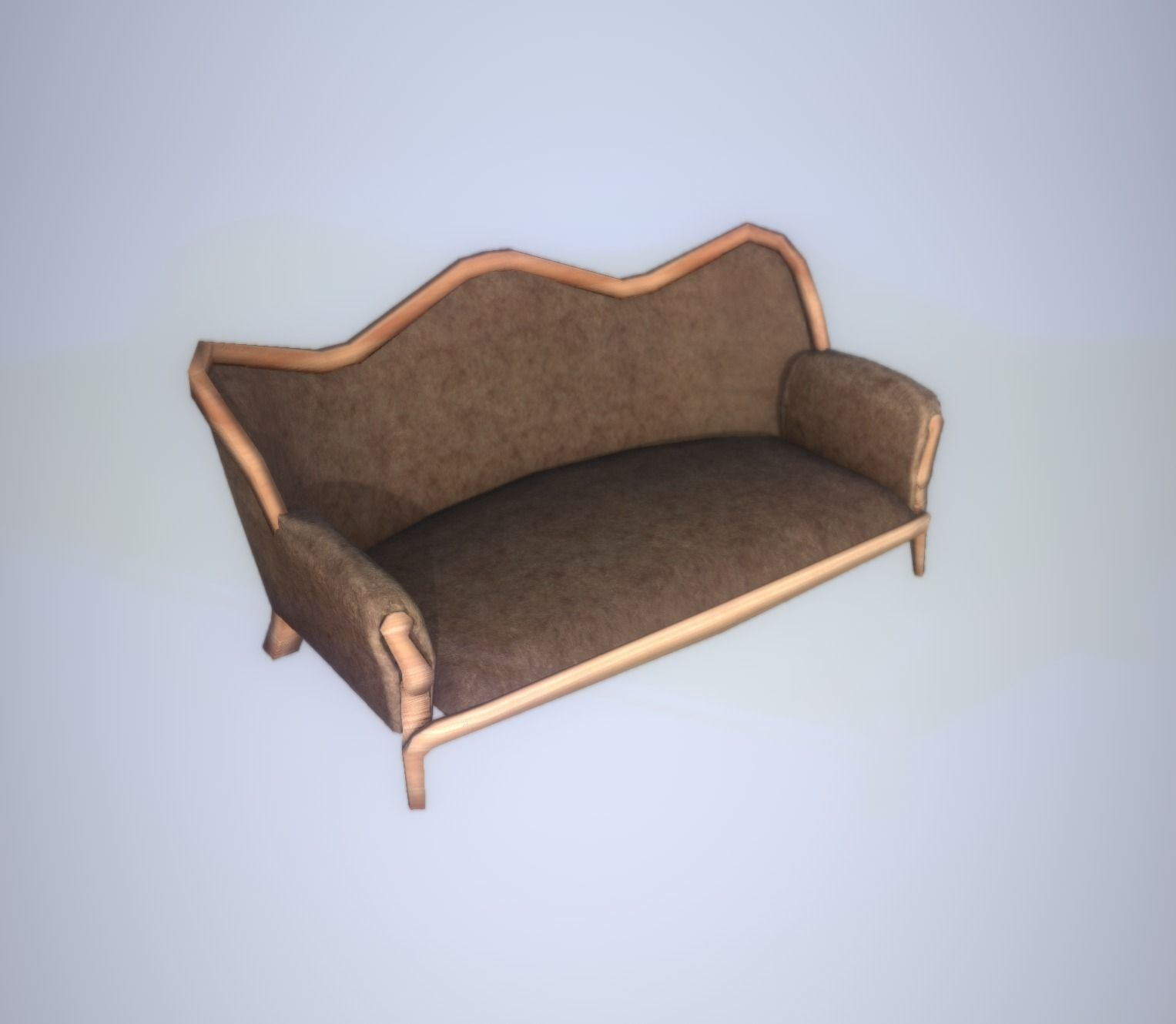 3D model Antique Sofa LP PBR game ready 3x materials VR AR low
