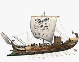 3D Roman Warship Bireme