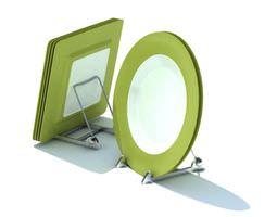 Green Stylized Plates 3D model