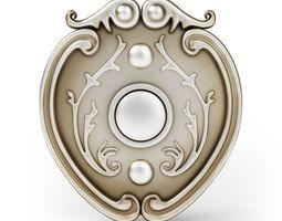3d model antique styled door bell