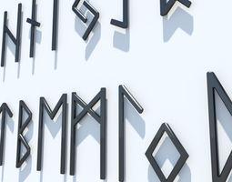 Runes Alphabet 3D