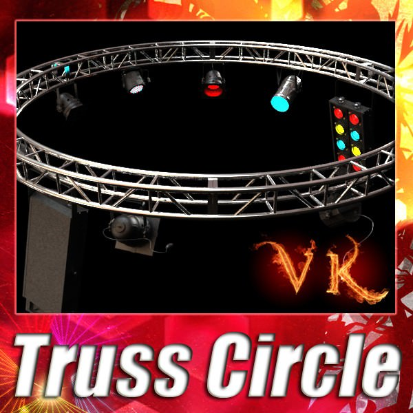 Circle Truss with Stage Lights High Detail
