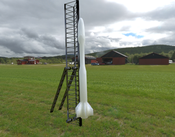 rocket 3D printable model