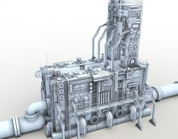 Power relay station 3D model