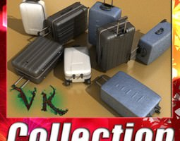 3D Suitcase Collection High Detail