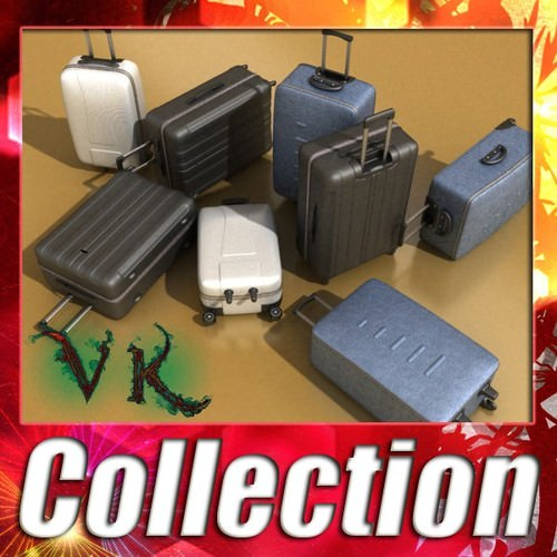 Suitcase Collection High Detail3D model