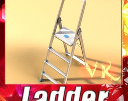 3d step ladder high detail