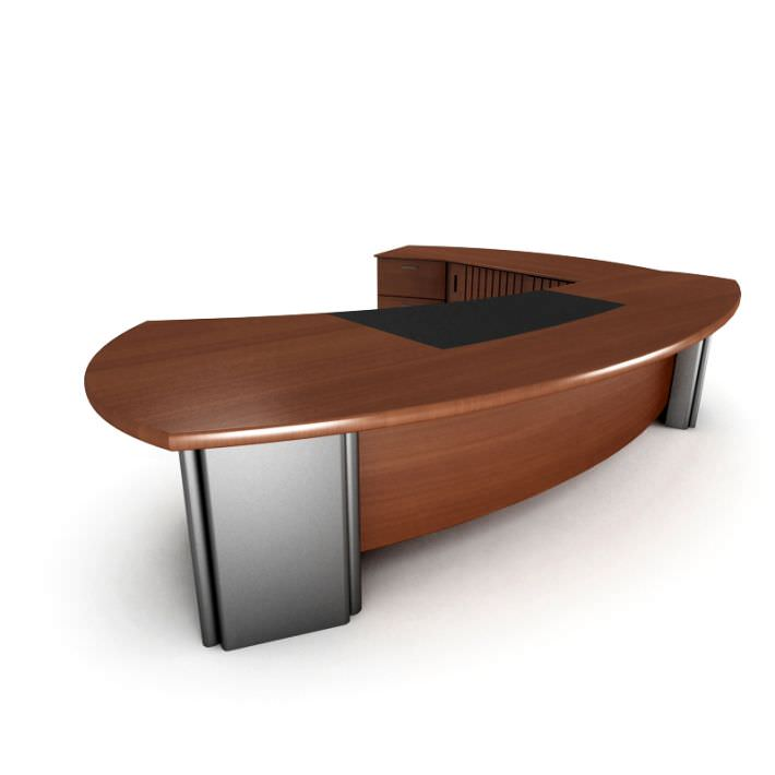 luxury office desk. Executive Luxury Office Desk 3d Model 1 X