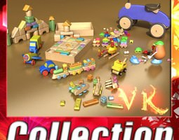 Toys Collection 10 Items 3D Model