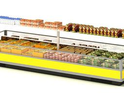 Food Display Center 3D