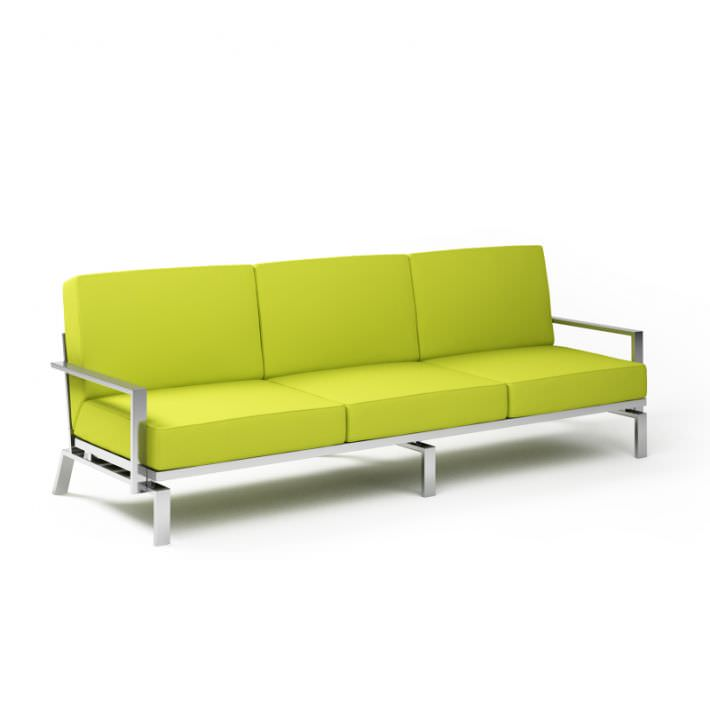 lime green sofa 3d model