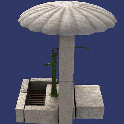water fount 3d model max tga 1