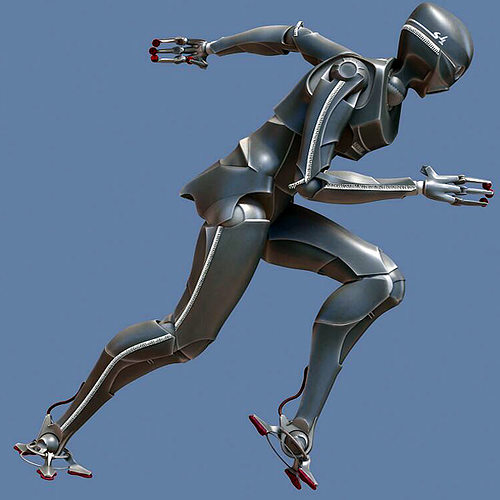 servoid antropomorphic servant android 3d model animated max obj mtl fbx tga unitypackage prefab 1