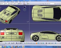 lamborghini gallardo design 3D model