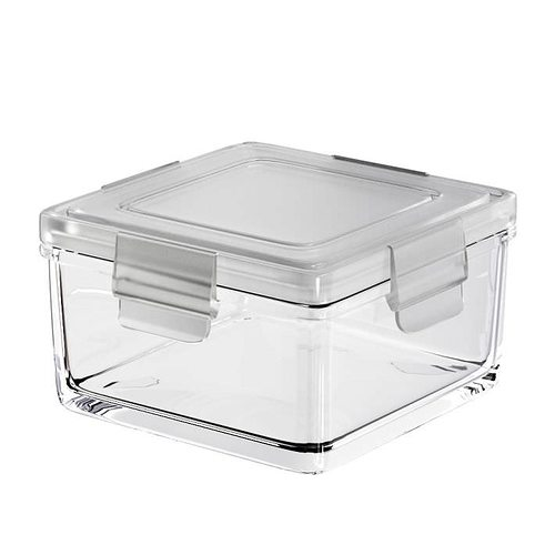 clear kitchen plastic container 3d model obj mtl 1