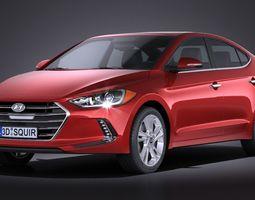 Hyundai Elantra 2017 3D Model